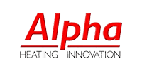 alpha heating innovation logo transparent gas fast