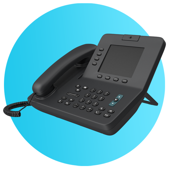 black deskphone telephone gas fast circle blue
